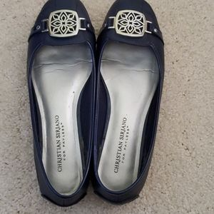 Navy Blue Christian Siriano loafers